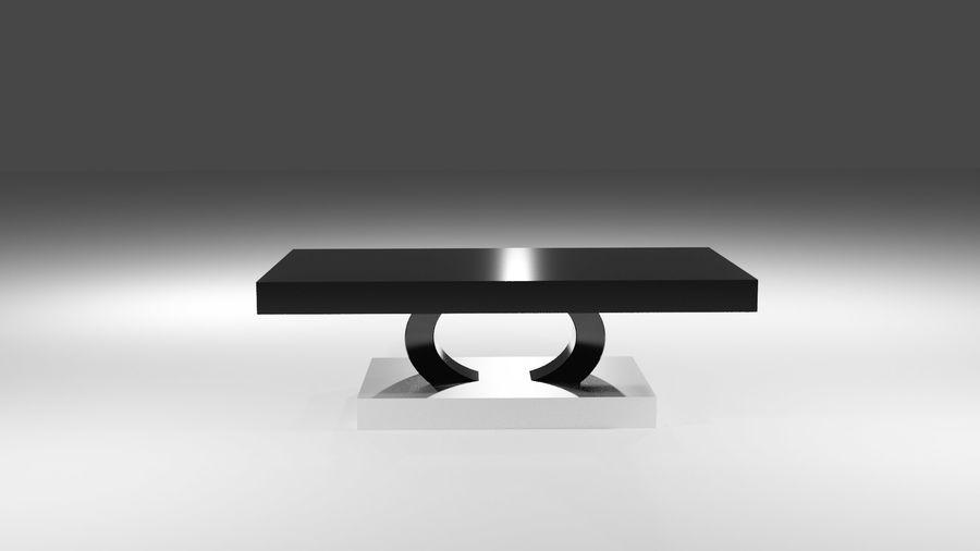 Czarny nowoczesny stolik kawowy royalty-free 3d model - Preview no. 1