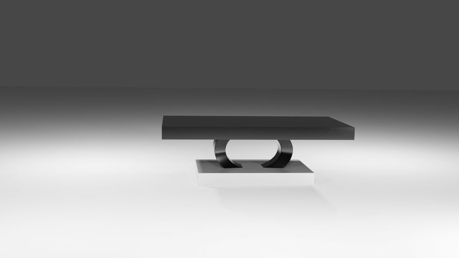 Czarny nowoczesny stolik kawowy royalty-free 3d model - Preview no. 3