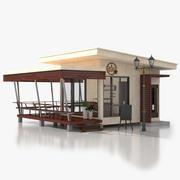 Cafetería modelo 3d