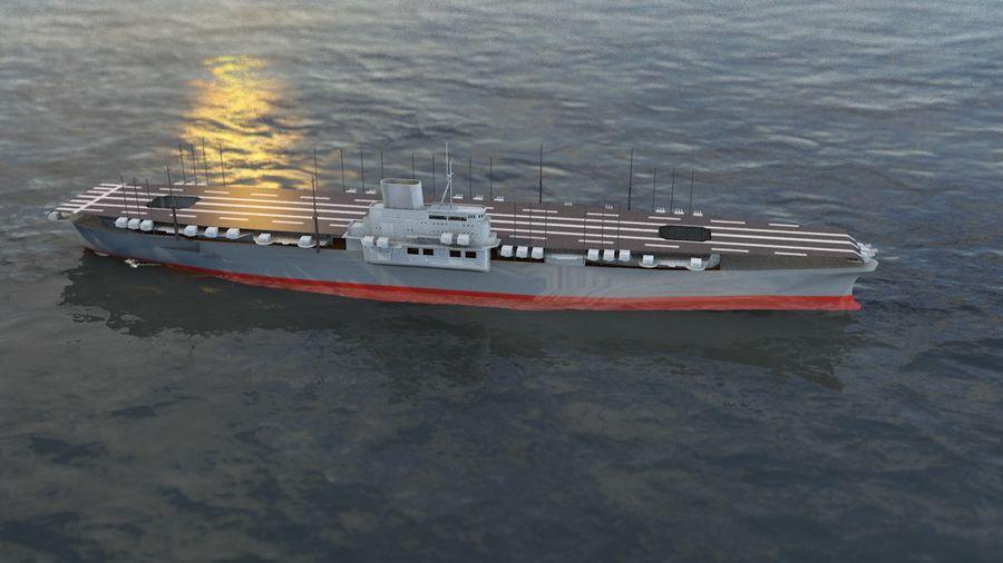 Shinano Japanese Aircraft Carrier royalty-free 3d model - Preview no. 15