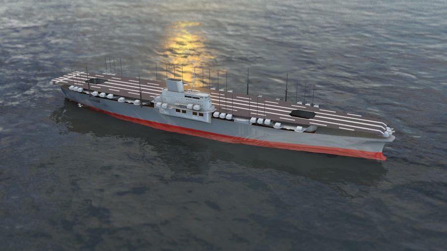 Shinano Japanese Aircraft Carrier royalty-free 3d model - Preview no. 16