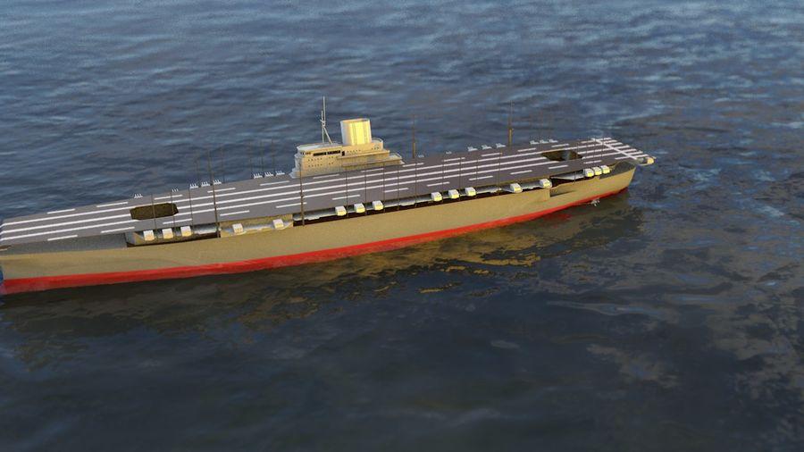 Shinano Japanese Aircraft Carrier royalty-free 3d model - Preview no. 7