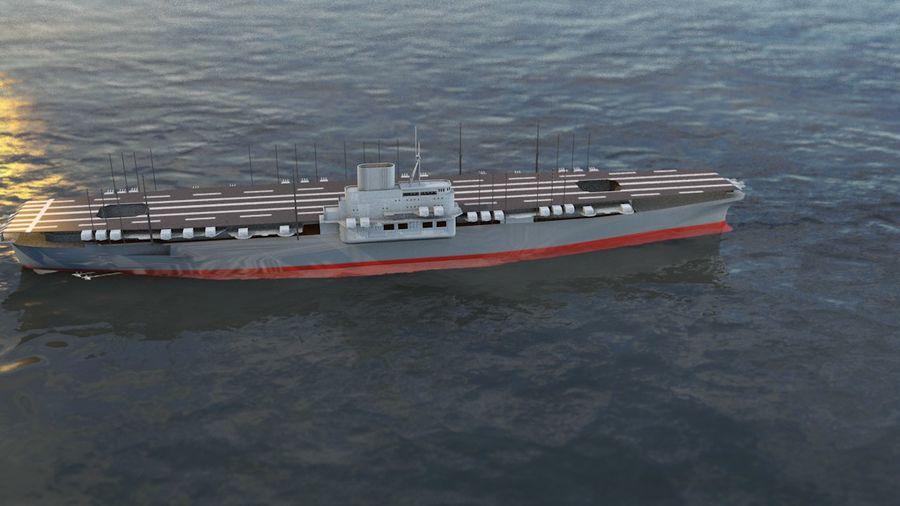 Shinano Japanese Aircraft Carrier royalty-free 3d model - Preview no. 14