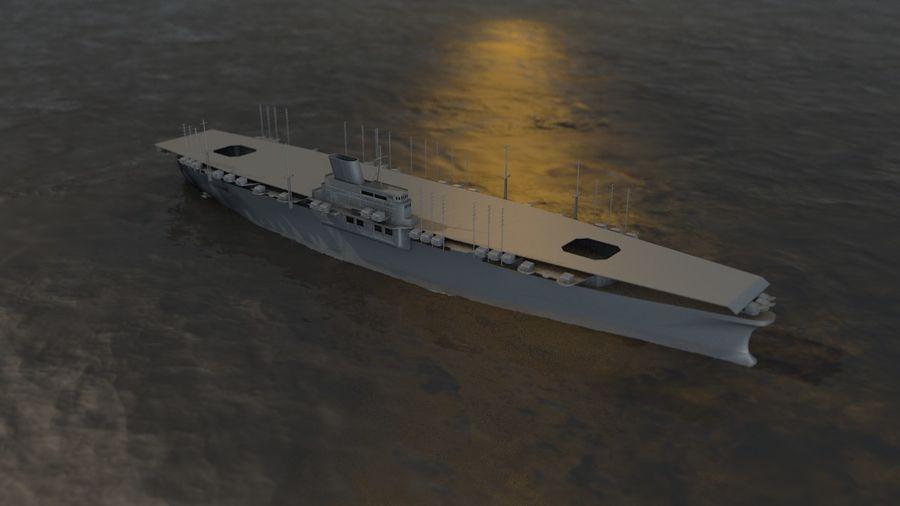 Shinano Japanese Aircraft Carrier royalty-free 3d model - Preview no. 17
