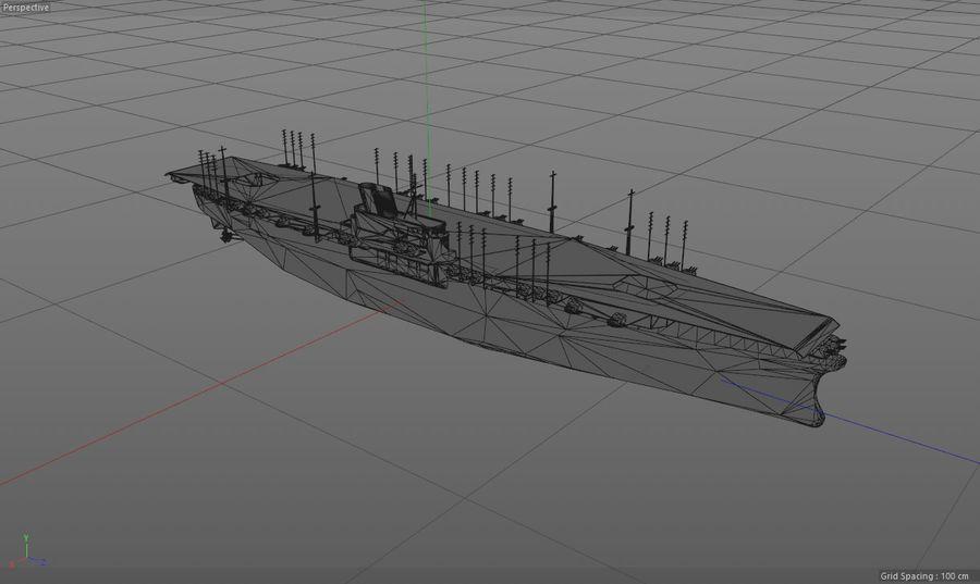 Shinano Japanese Aircraft Carrier royalty-free 3d model - Preview no. 18