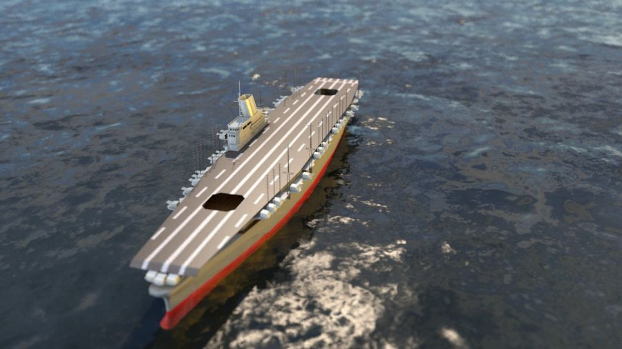 Shinano Japanese Aircraft Carrier royalty-free 3d model - Preview no. 5