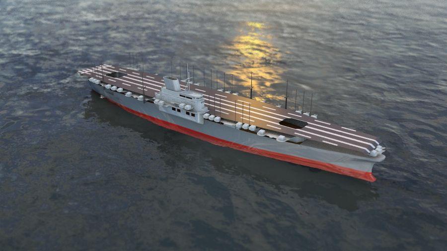 Shinano Japanese Aircraft Carrier royalty-free 3d model - Preview no. 1