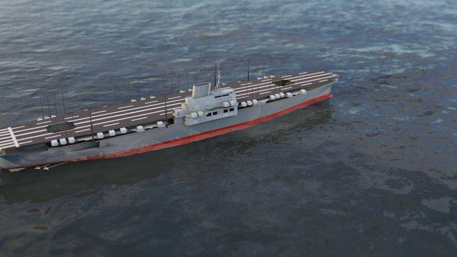 Shinano Japanese Aircraft Carrier royalty-free 3d model - Preview no. 13