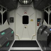 3D Spaceship/station interior simplified 3d model