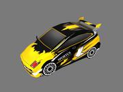 Carro dos desenhos animados 3d model
