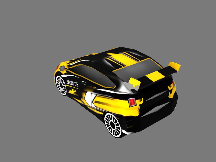 Çizgi Araba royalty-free 3d model - Preview no. 3
