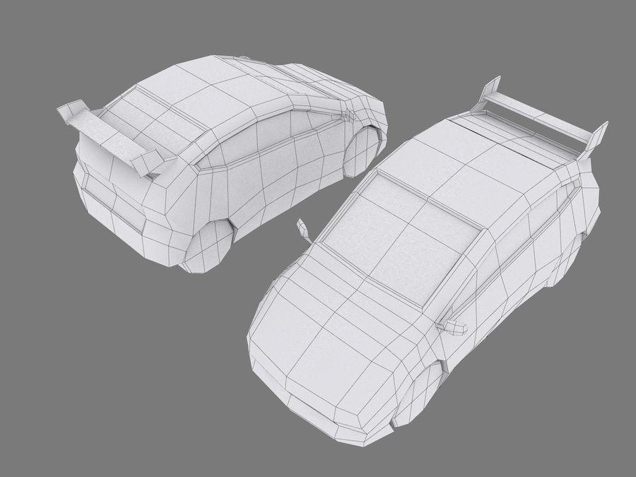 Çizgi Araba royalty-free 3d model - Preview no. 7