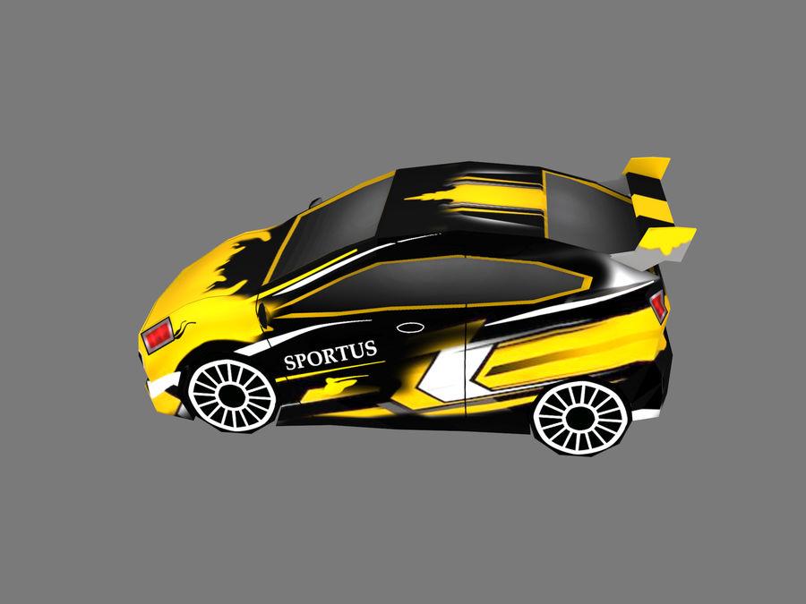 Çizgi Araba royalty-free 3d model - Preview no. 2