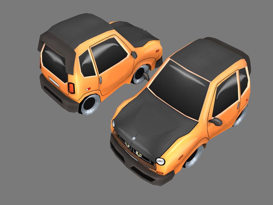 Мультфильм автомобиль royalty-free 3d model - Preview no. 8