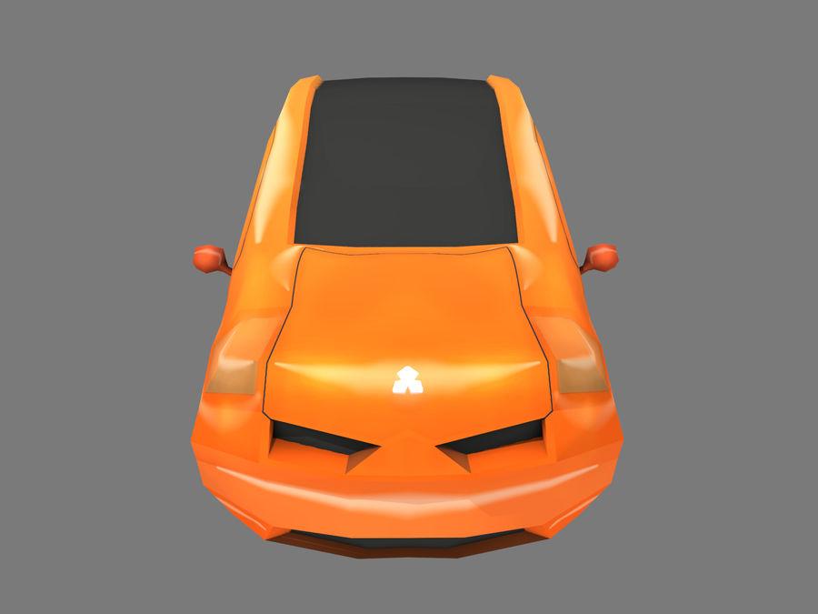Tecknad bil royalty-free 3d model - Preview no. 5