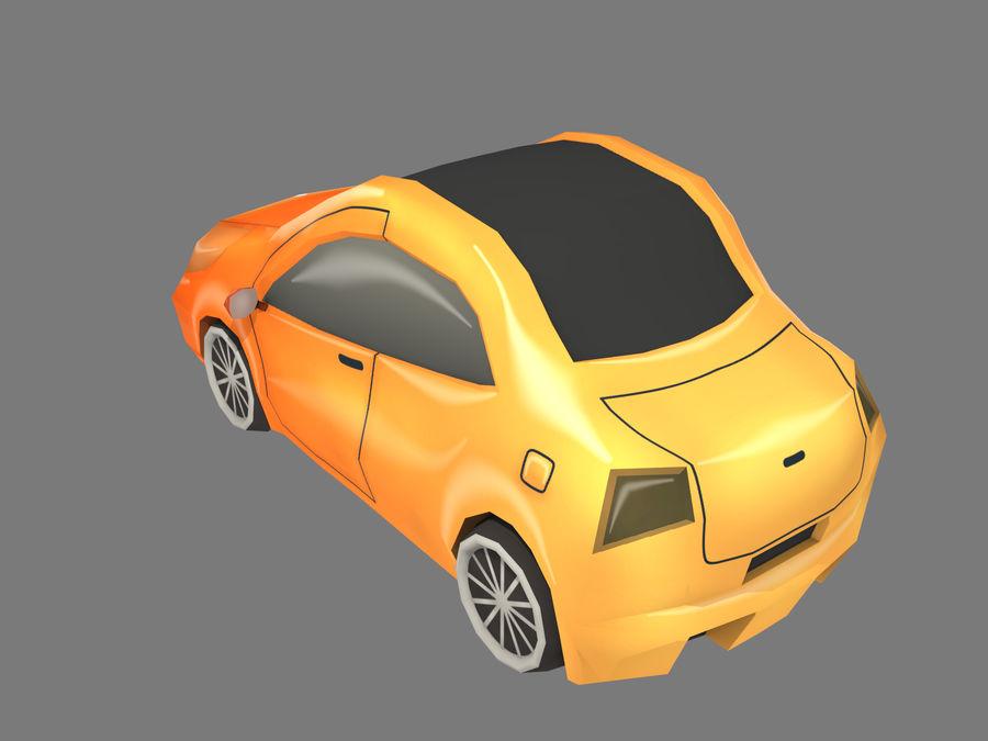 Tecknad bil royalty-free 3d model - Preview no. 3