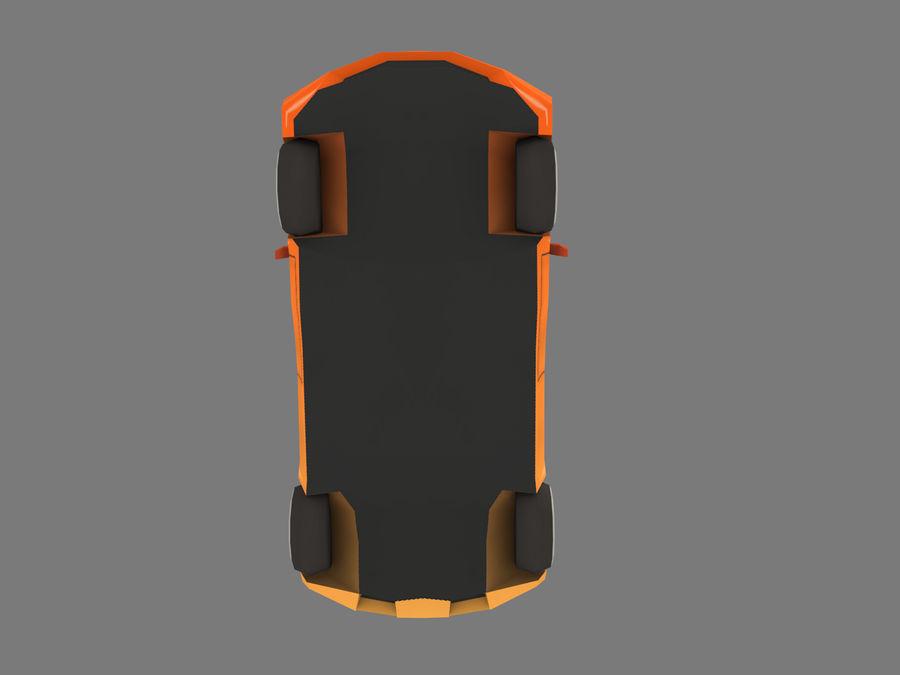 Cartoon Car royalty-free 3d model - Preview no. 6