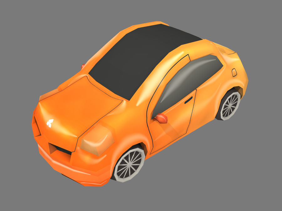 Tecknad bil royalty-free 3d model - Preview no. 1