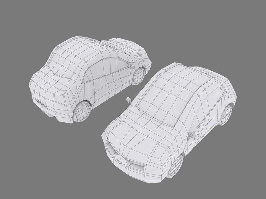 Tecknad bil royalty-free 3d model - Preview no. 7