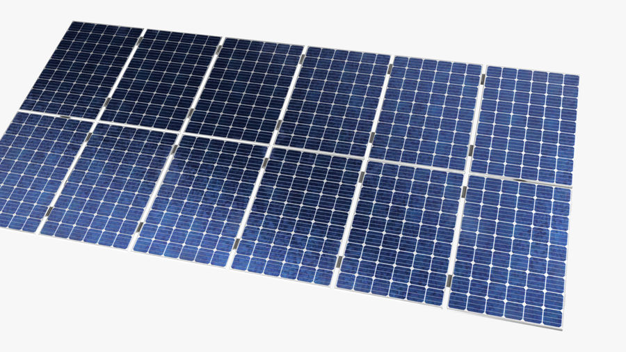 Solar Panels royalty-free 3d model - Preview no. 3