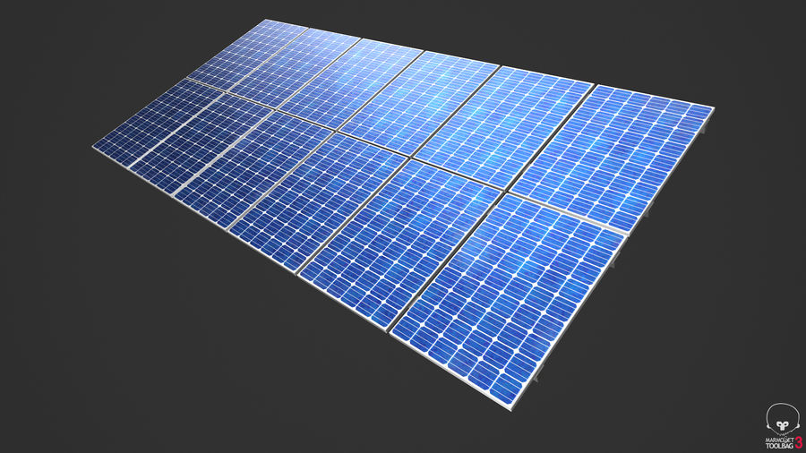 Solar Panels royalty-free 3d model - Preview no. 12