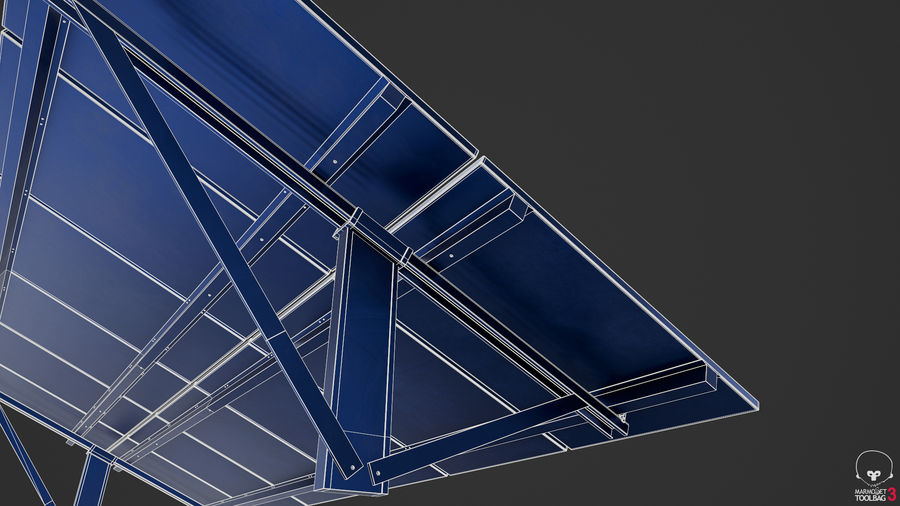 Solar Panels royalty-free 3d model - Preview no. 16