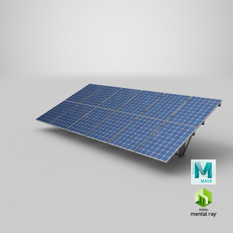 Solar Panels royalty-free 3d model - Preview no. 28
