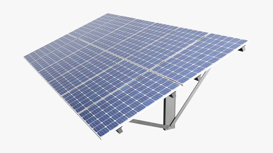 Solar Panels royalty-free 3d model - Preview no. 4