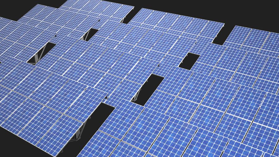 Solar Panels royalty-free 3d model - Preview no. 11