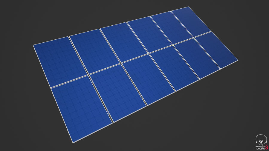 Solar Panels royalty-free 3d model - Preview no. 14