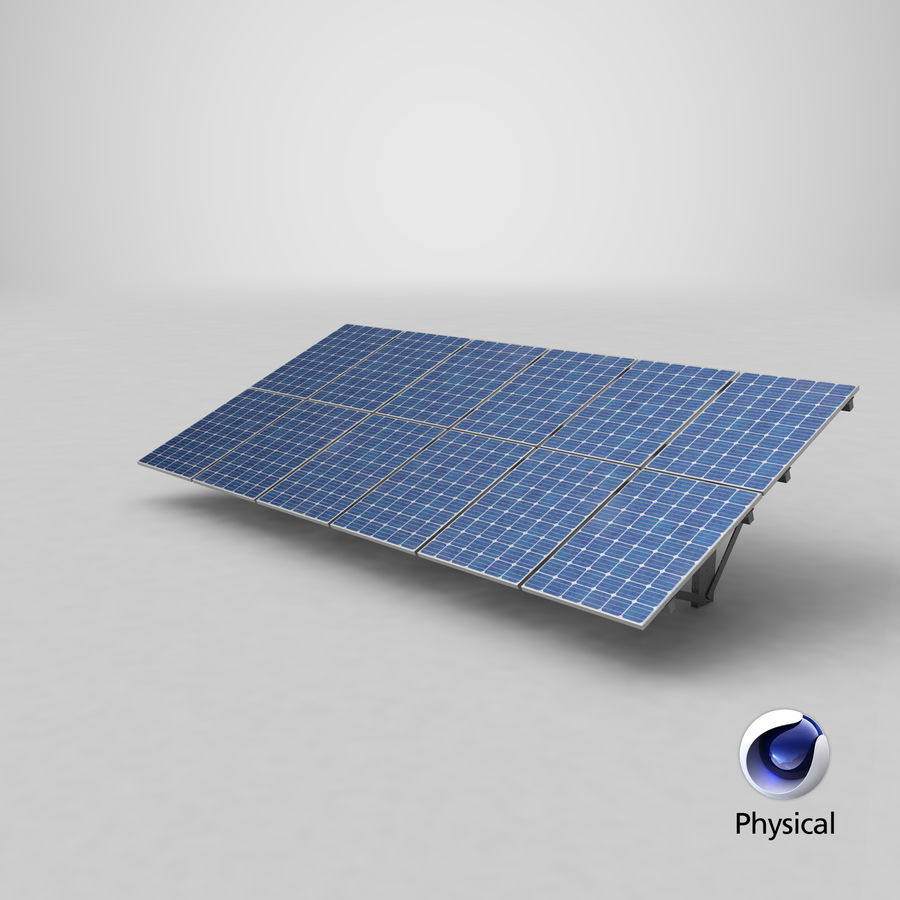 Solar Panels royalty-free 3d model - Preview no. 20