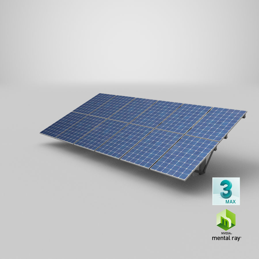 Solar Panels royalty-free 3d model - Preview no. 25