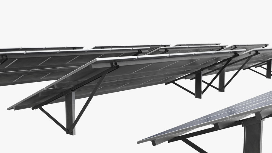 Solar Panels royalty-free 3d model - Preview no. 10