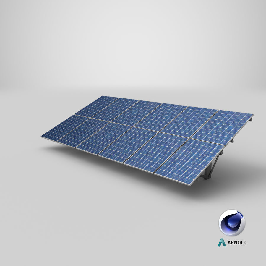 Solar Panels royalty-free 3d model - Preview no. 21
