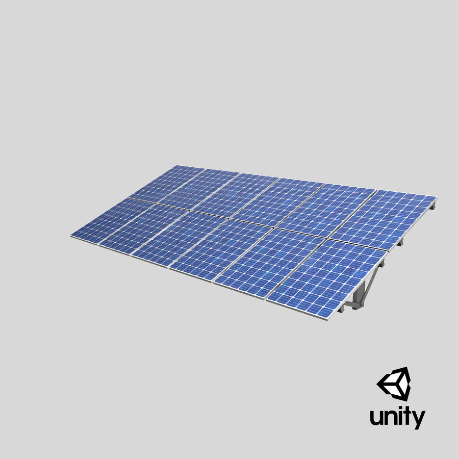 Solar Panels royalty-free 3d model - Preview no. 22