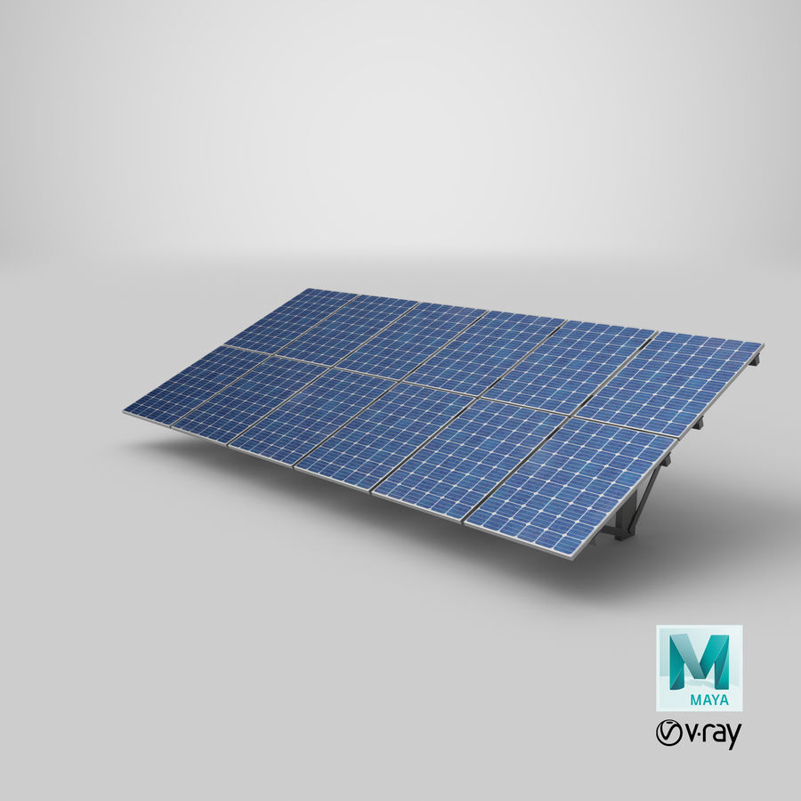 Solar Panels royalty-free 3d model - Preview no. 29