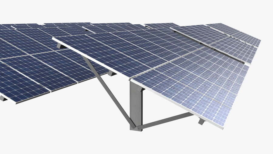 Solar Panels royalty-free 3d model - Preview no. 8