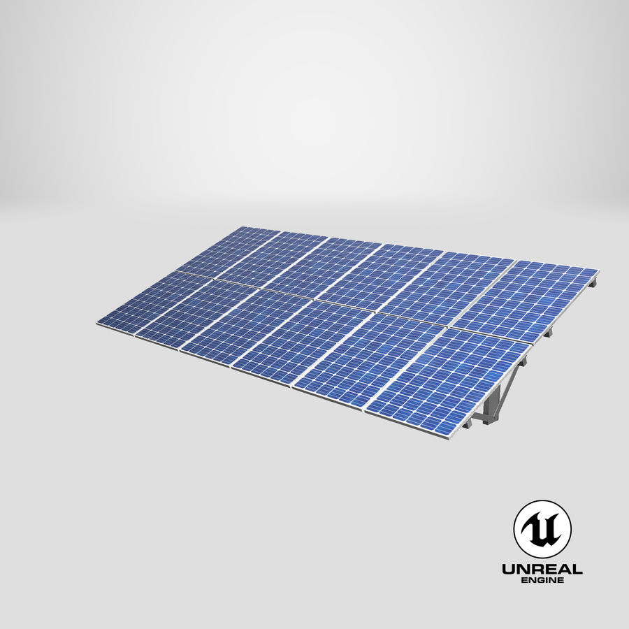Solar Panels royalty-free 3d model - Preview no. 23