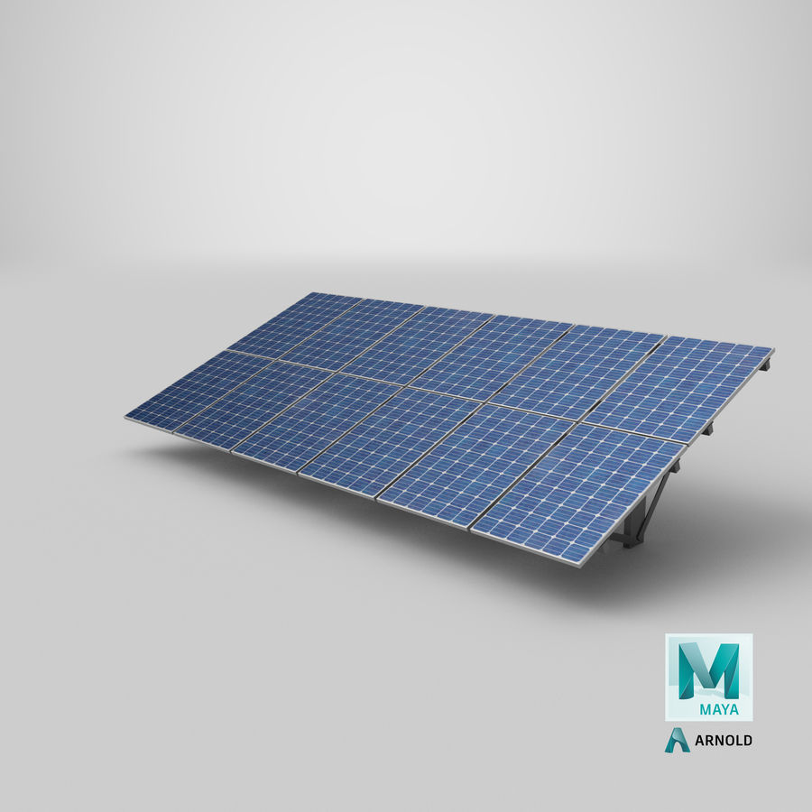 Solar Panels royalty-free 3d model - Preview no. 27