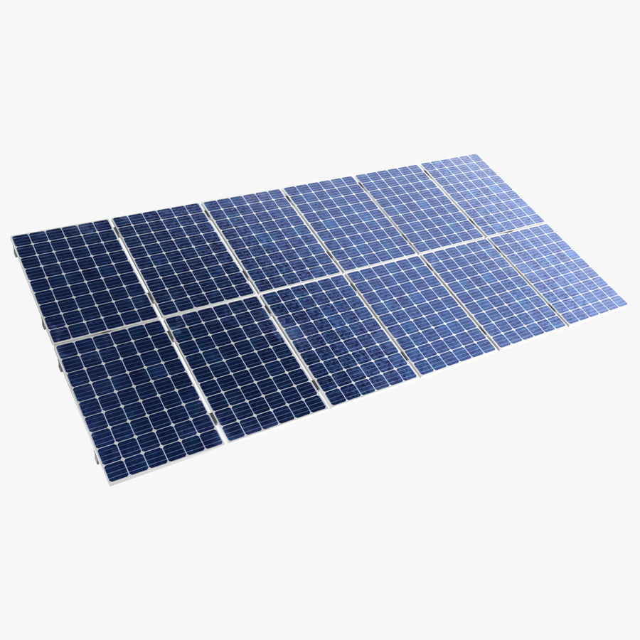 Solar Panels royalty-free 3d model - Preview no. 1