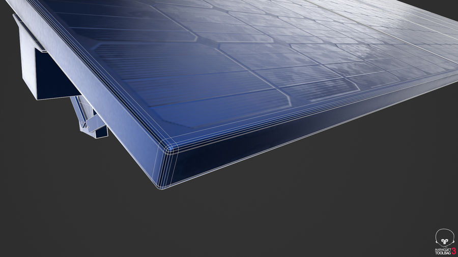 Solar Panels royalty-free 3d model - Preview no. 15