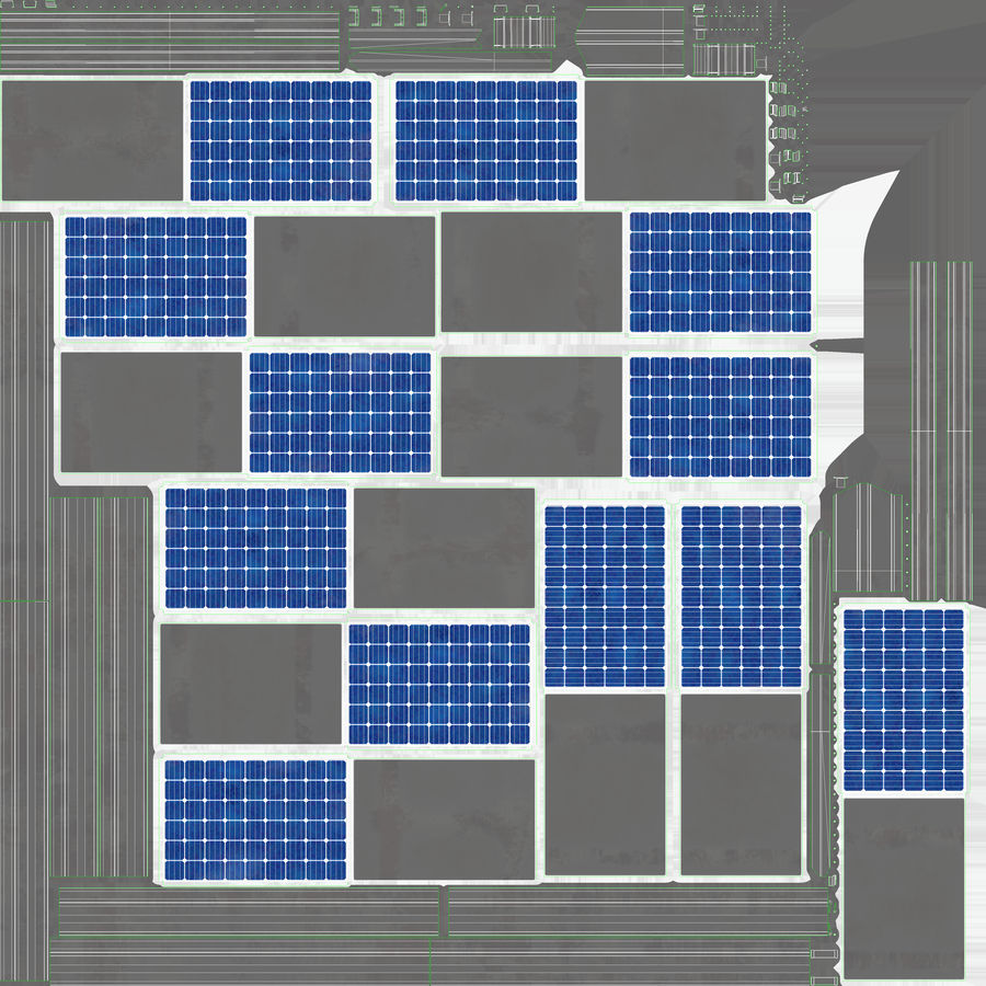 Solar Panels royalty-free 3d model - Preview no. 18