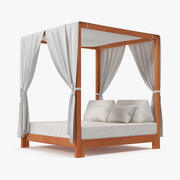 Outdoor Leisure Daybed with Canopy 3d model