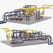 Endüstriyel Borular 3d model