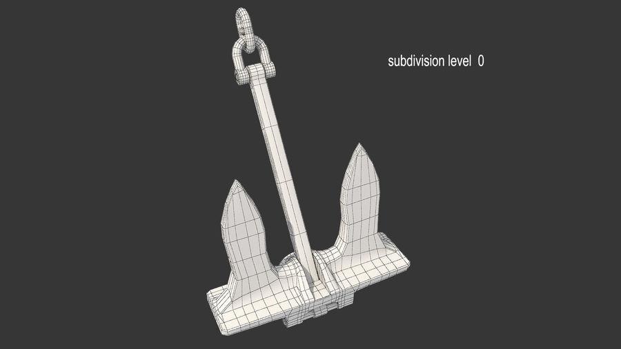 Ancre de bateau royalty-free 3d model - Preview no. 14