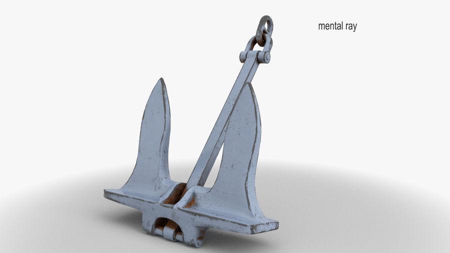 Ancre de bateau royalty-free 3d model - Preview no. 4