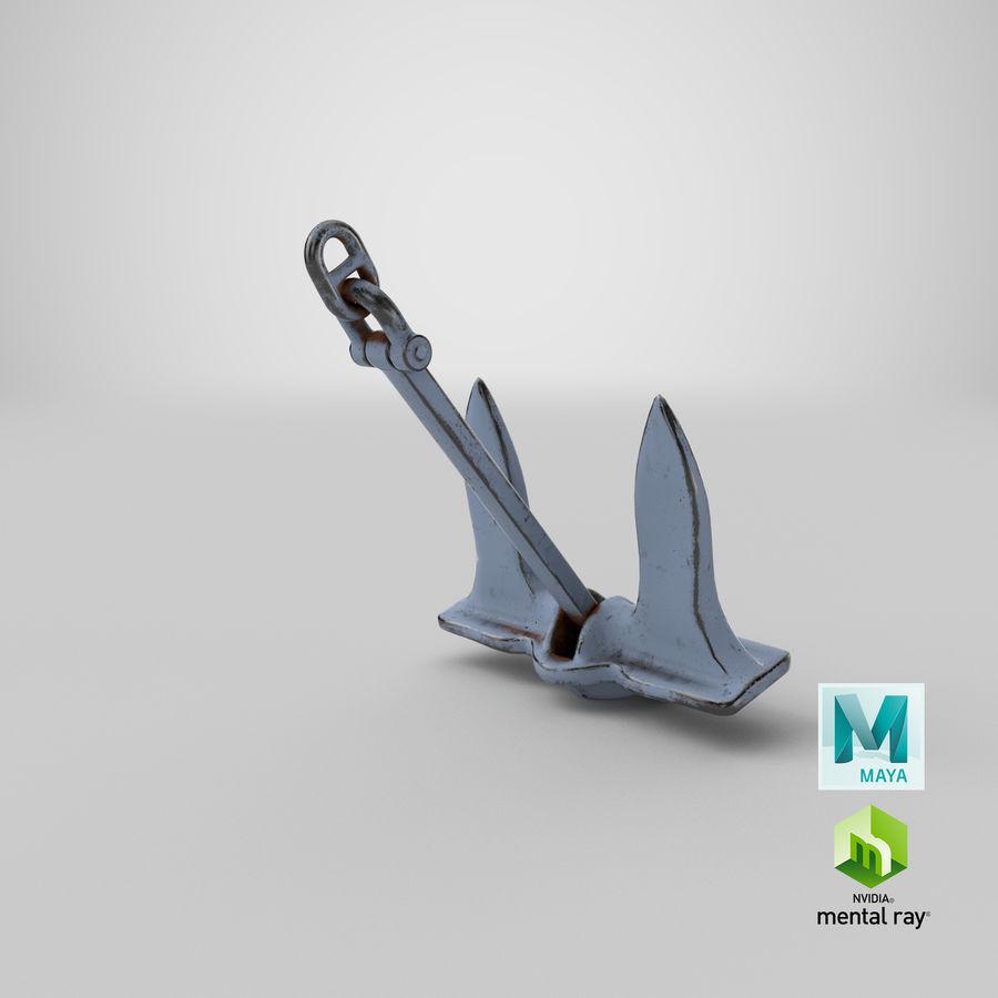 Ancre de bateau royalty-free 3d model - Preview no. 25