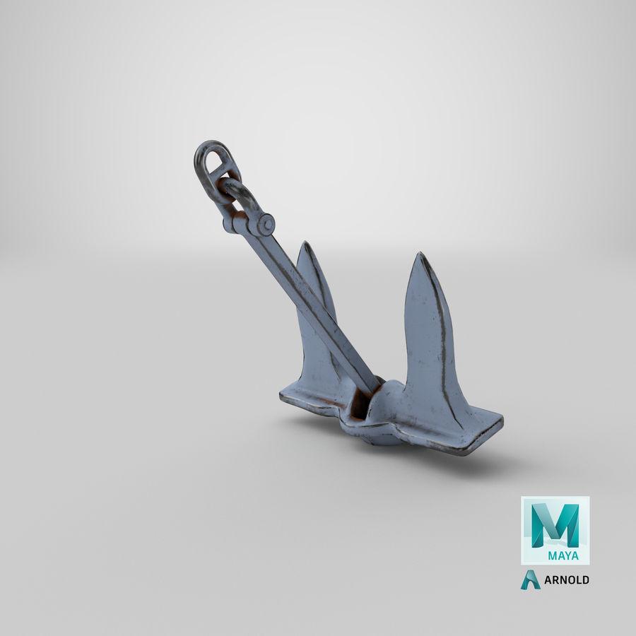 Ancre de bateau royalty-free 3d model - Preview no. 24