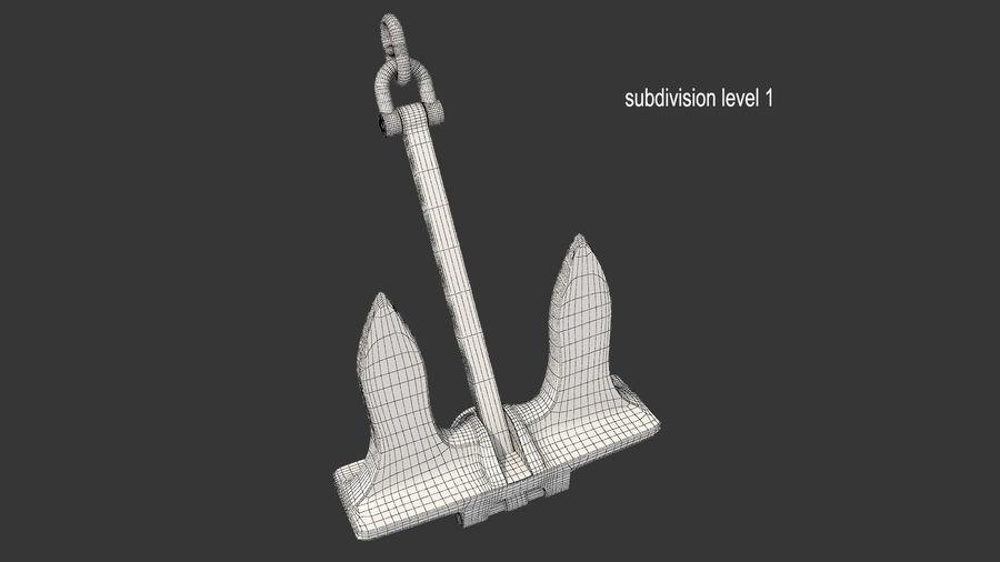 Ancre de bateau royalty-free 3d model - Preview no. 15