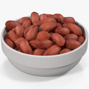 Peanuts in a Plate 2 3d model